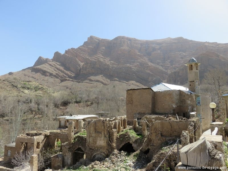 campagne Shiraz, village qalat