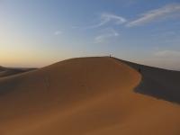 dune de sable coucher du soleil