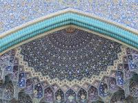 ceramiques bleues,  Mosquée du Chah