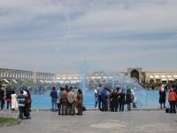 fontaine sur la place Naghsh-e Jahan