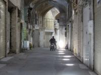 rue vide du bazar d'ispahan