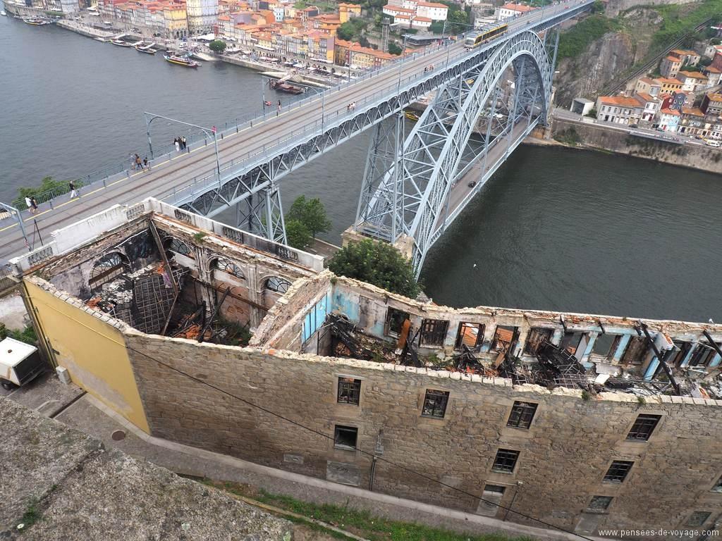 Vue insolite sur le pont louis