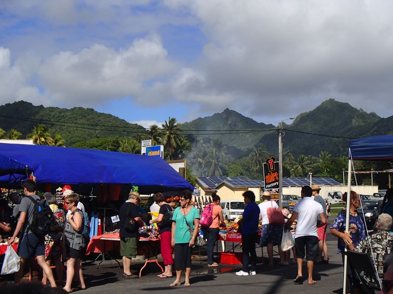 ile cook tourisme rarotonga marche market