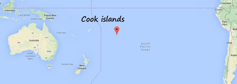 iles cook carte du monde itineraire