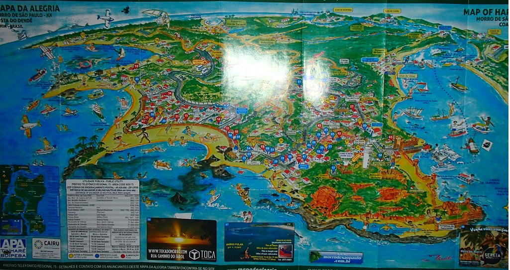 Morro de Sao Paulo Map