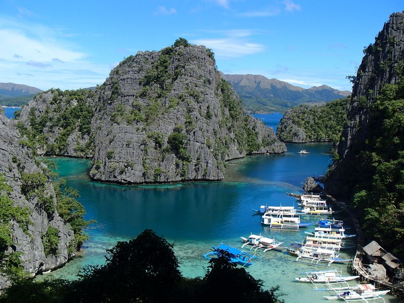 marche jusqu'au Kayangan lake - Coron