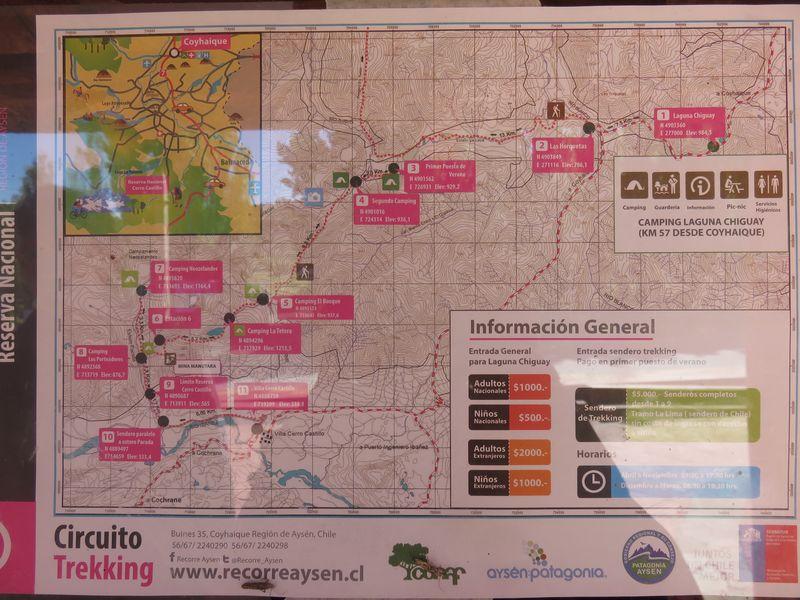 carte reserve cerro castillo randonnee