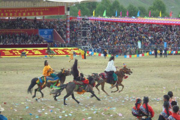 festival chevaux yushu ceremonie