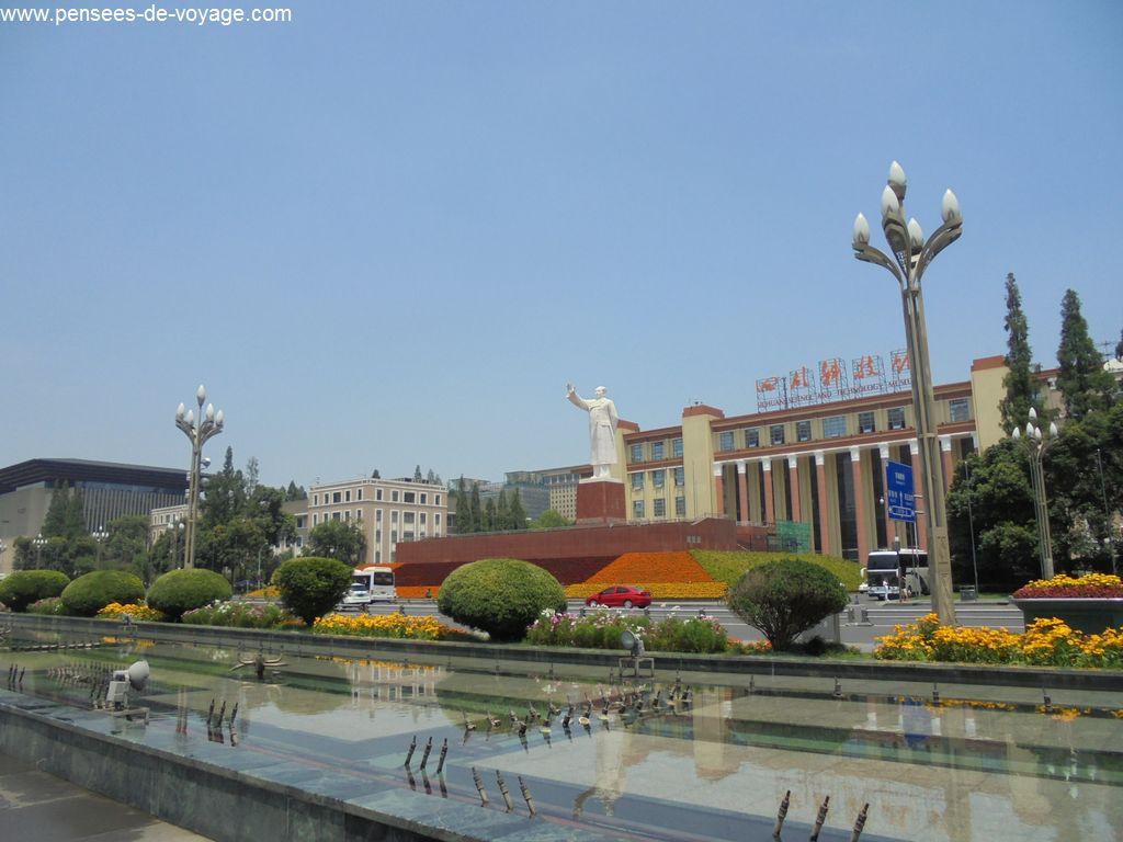 mao statue chengdu tianfu