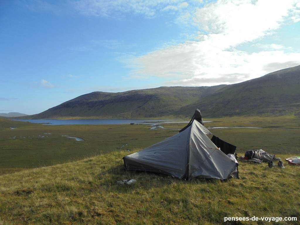 camping feroe au lac Fjallavatn
