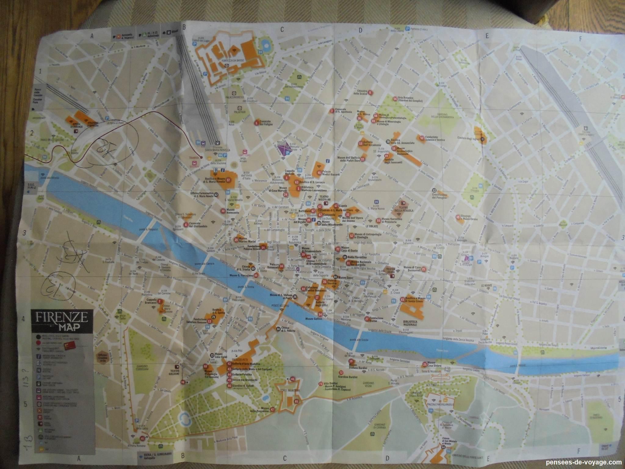 plan touristique de florence