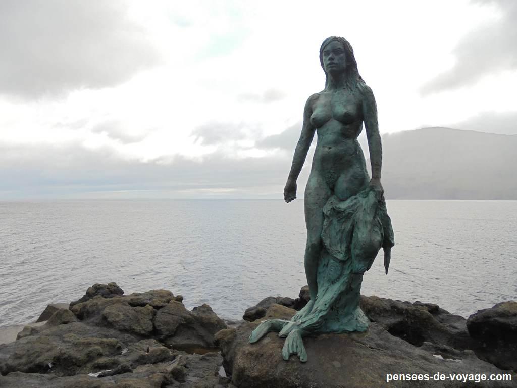 mikladalur statue femme feroe