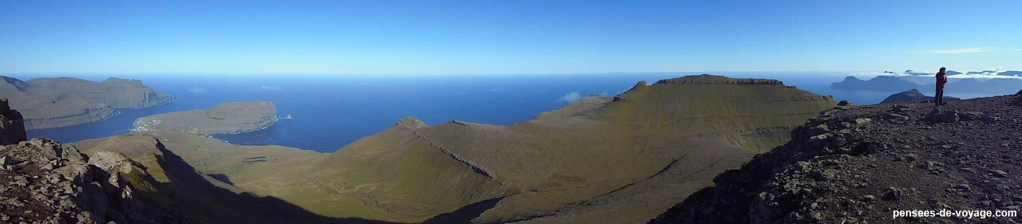 panorama sommet du Slaettaratindur