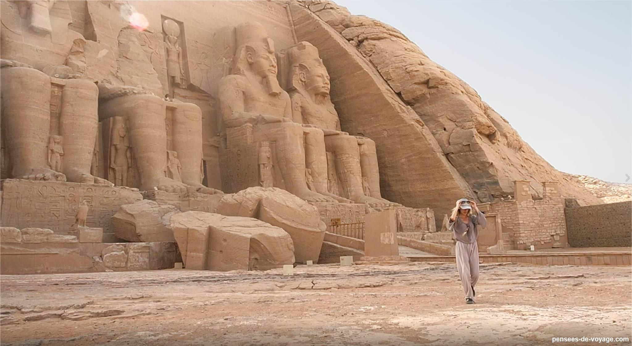 Visite seule du temple d'Abu Simbel