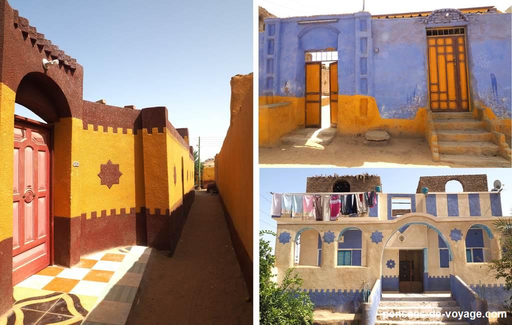 plusieurs maisons du village