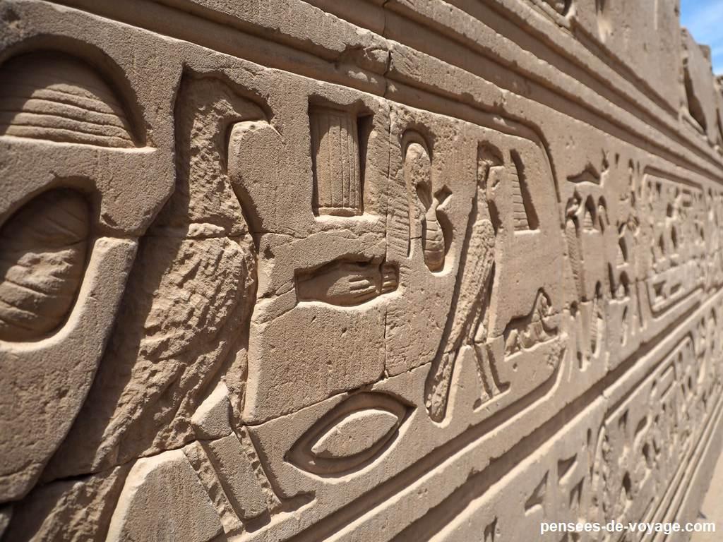 hiéroglyphes kom ombo