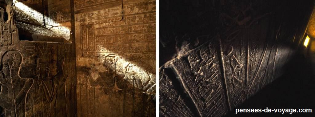 interieur du temple - ombres et lumières