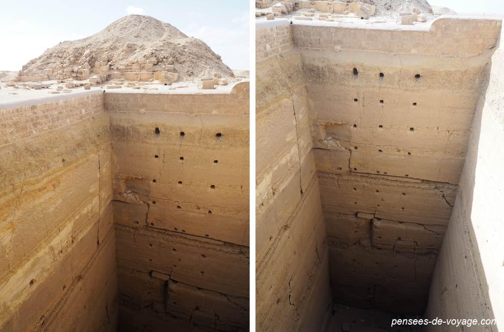 Photo tombe profonde Saqqarah