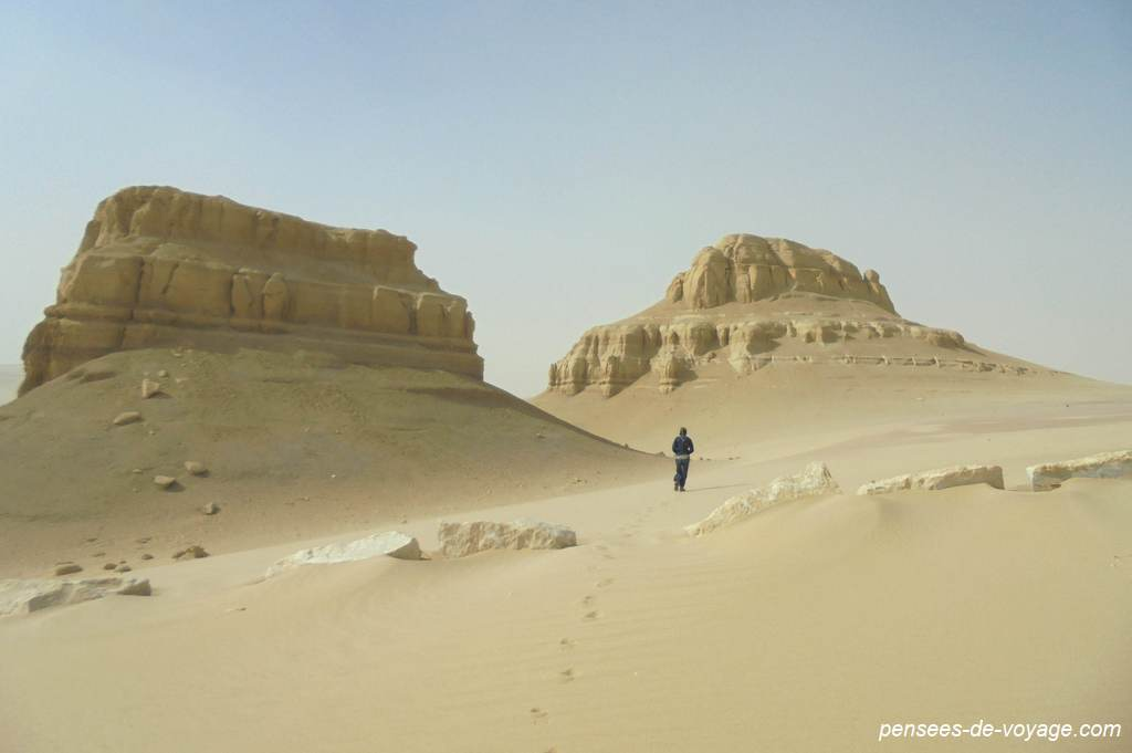 désert du wadi al rayan, montagne