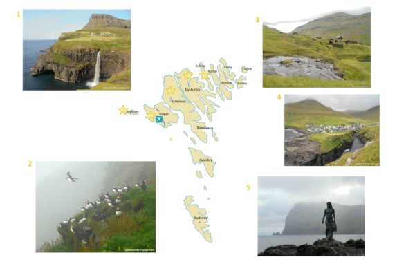 Incontournables carte touristique iles feroe