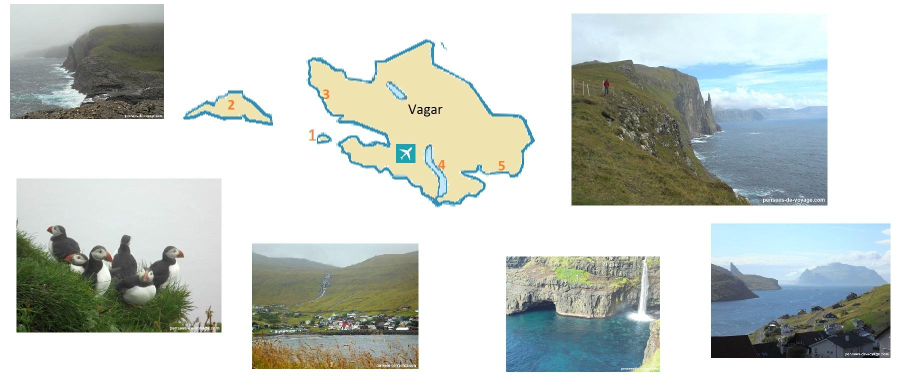 carte touristique vagar iles feroe