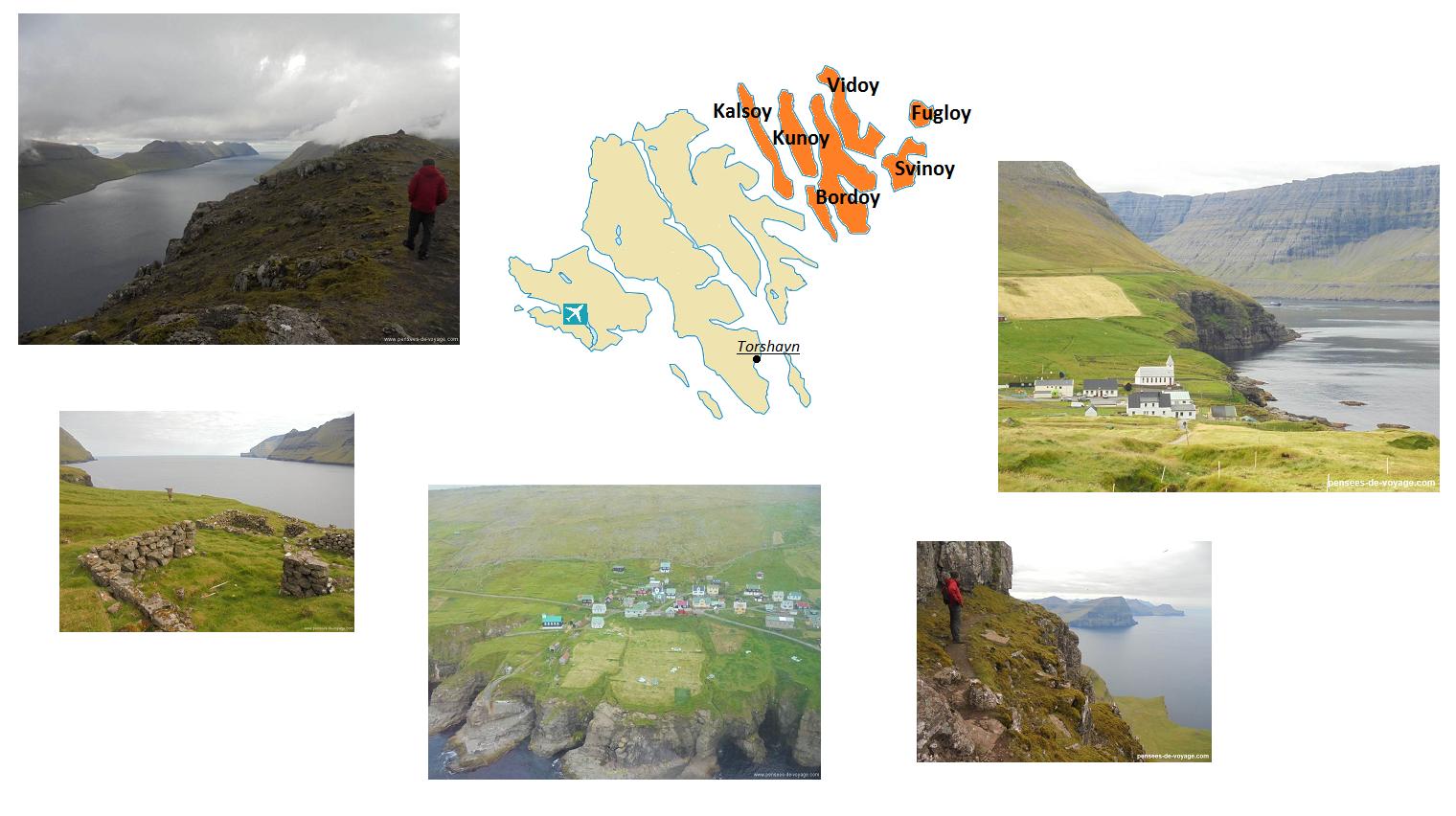 Carte et photos des îles Feroe du nord