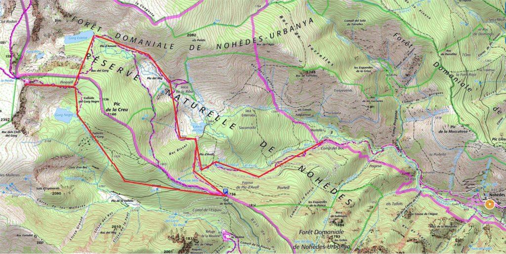 carte des lacs nohedes itineraires