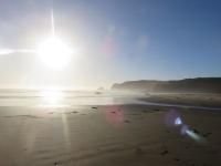 plage soleil couchant ouest de chiloe