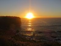 coucher du soleil côte ouest de chiloe parc