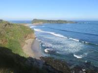 côte ouest chiloe grande plage deserte