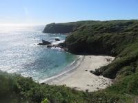 belle plage déserte au sud du Chili