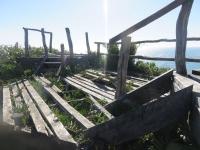 ruine des installations du parc