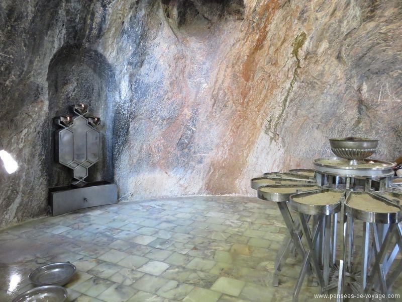 chak chak interieur de la grotte
