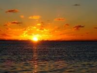 iles cook coucher de soleil belle plage rarotonga