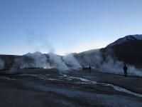 geysers d'altitude la nuit